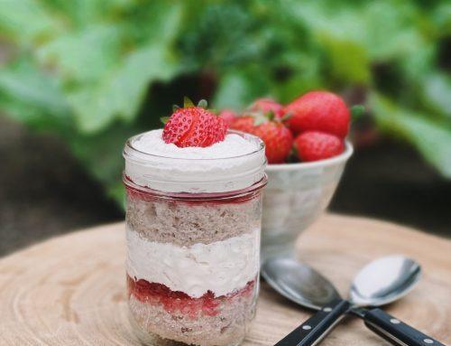 Strawberry Rhubarb Trifle